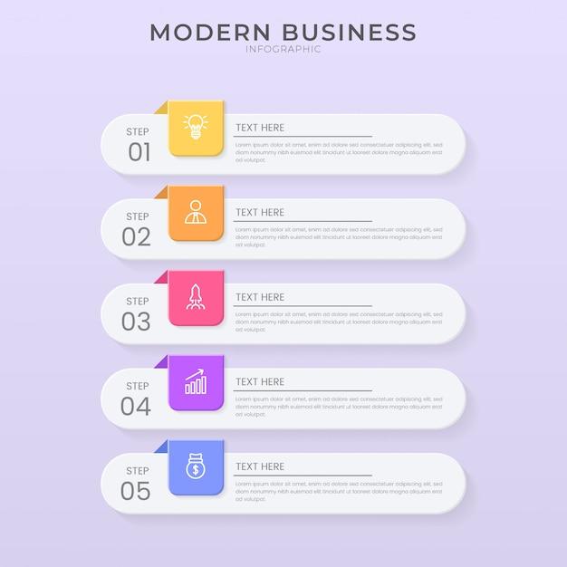3d i styl cięcia papieru infografika szablon projektu schemat organizacyjny procesu z tekstem do edycji
