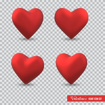 3d ikona serca na walentynki