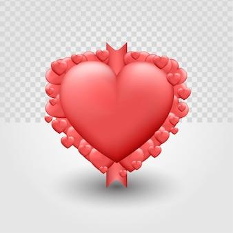 3d ilustrator miłości premium wektor