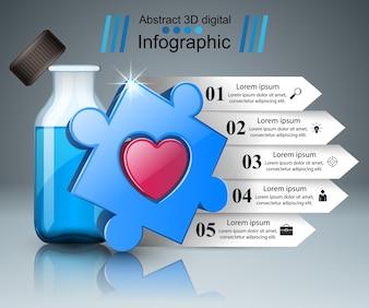3D Infografika medycznych.