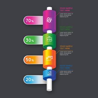 3d infographic koncepcja bary