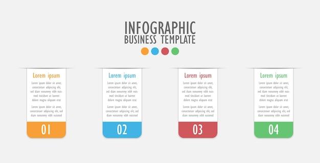 3d infographic szablon cztery opcje, biznesowy diagram