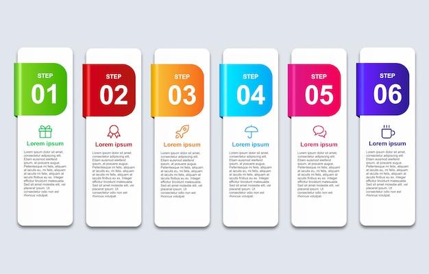 3d infographic sztandar z opcja projekta szablonem