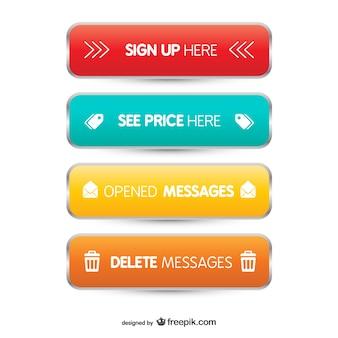 3d internetowych przyciski
