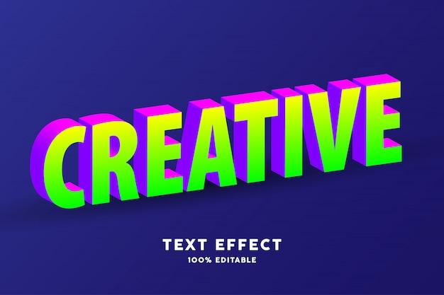 3d izometryczny efekt tekstowy zielony i fioletowy