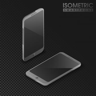 3d izometryczny projekt z smartfonów.