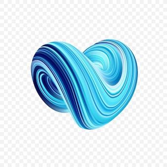 3d kolorowe abstrakcyjny kształt skręconego płynu.