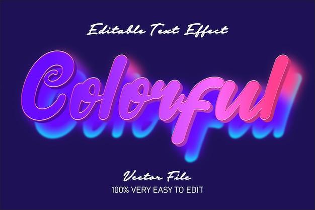 3d kolorowy efekt tekstowy