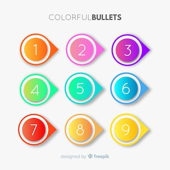 3d kolorowy punkt punkt kolekcja
