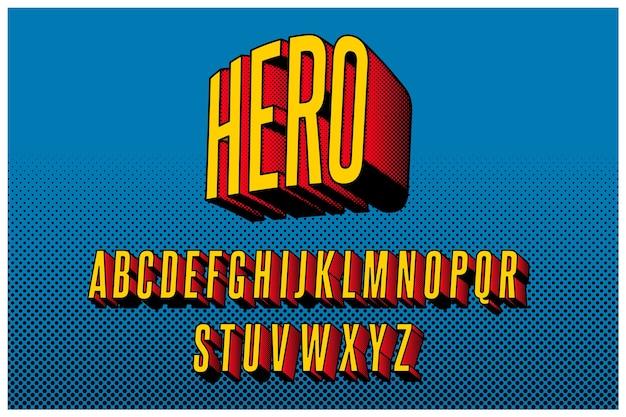 3d komiks alfabet