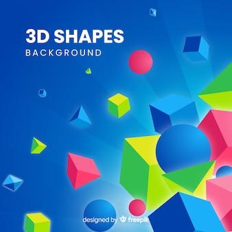 3d kształtów tło