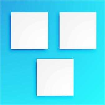 3d kwadratowy znak papieru sztuki projektowania