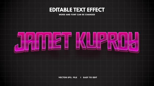 3d lekki futurystyczny efekt stylu tekstu