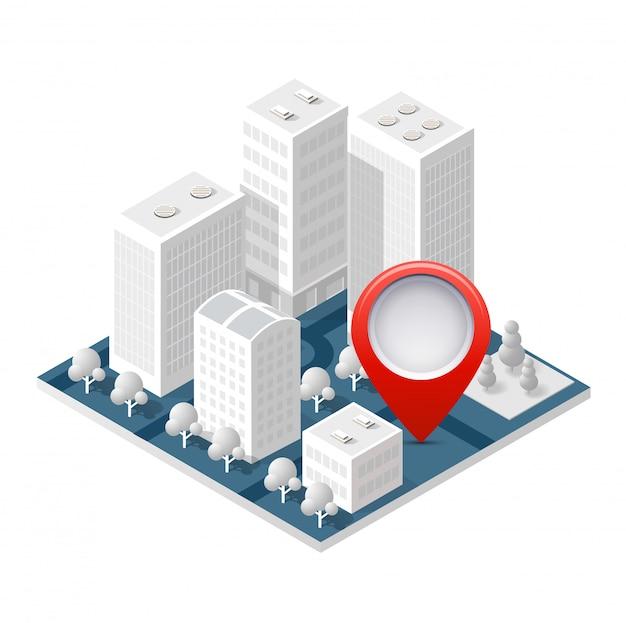 3d mapa izometryczny miasta