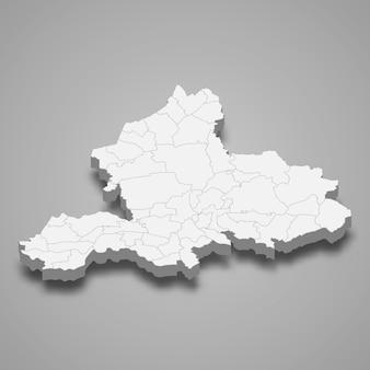 3d mapa prowincji holandii