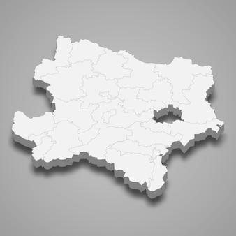 3d mapa stanu austrii