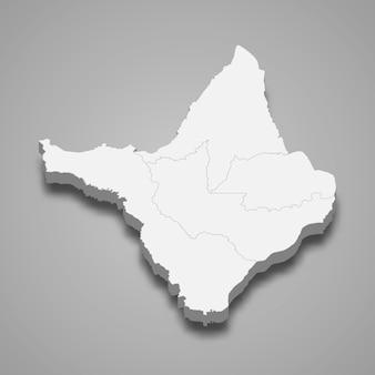 3d Mapa Stanu Brazylii Premium Wektorów