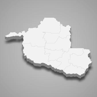 3d mapa stanu brazylii