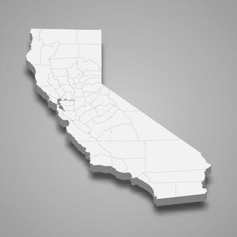 3d mapa stanu stanów zjednoczonych