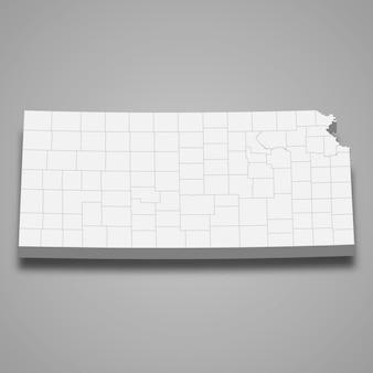 3d Mapa Stanu Stanów Zjednoczonych Premium Wektorów