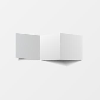 3d mockup ulotka pusty widok z góry do drukowania