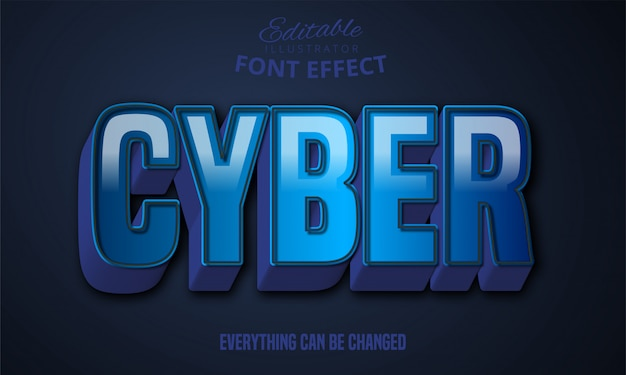 3d mocny pogrubiony niebieski efekt tekstowy