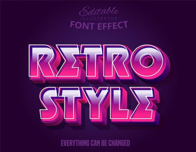 3d mocny pogrubiony tekstowy styl retro