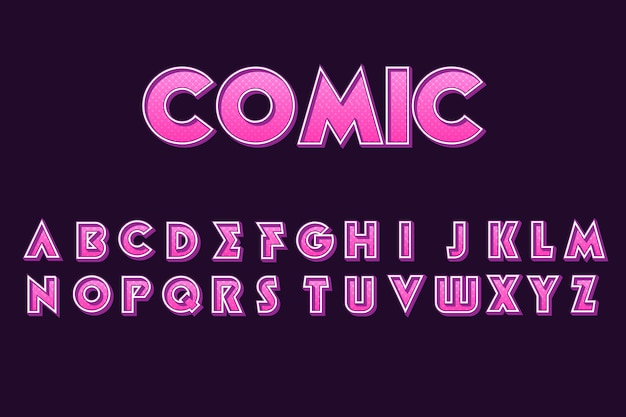 3d motyw komiksu alfabetu