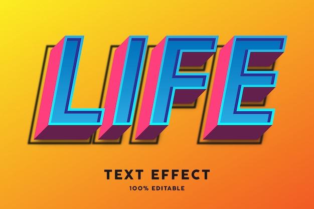 3d niebieski i czerwony efekt tekstowy