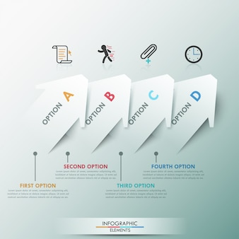 3d nowoczesne opcje infografiki transparent