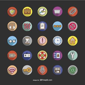 3d okrągłe ikony