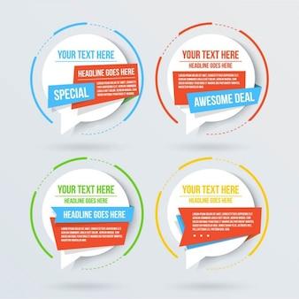 3d okrągłe opcje infografika
