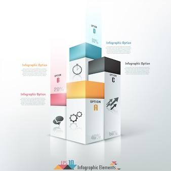 3d opcje infografiki nowoczesny transparent