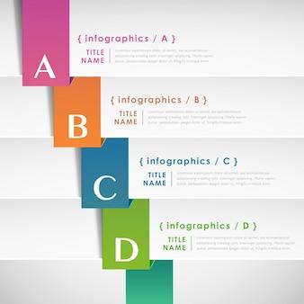 3d papierowa infografika
