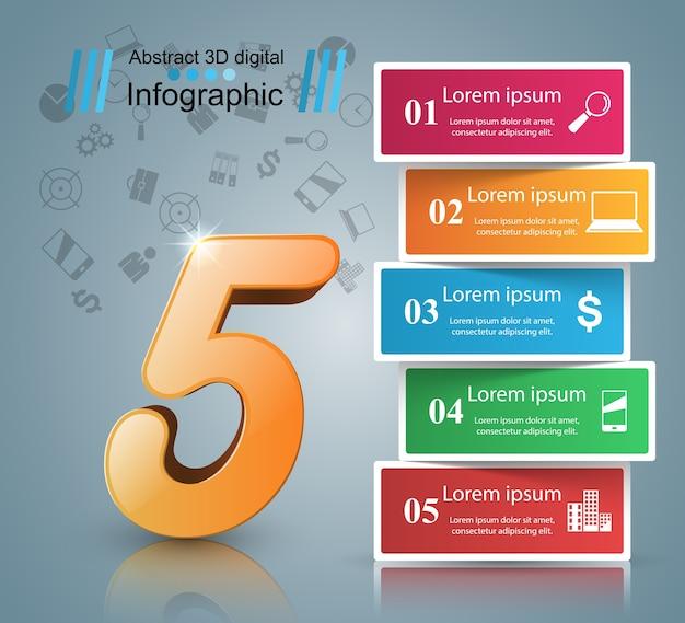 3d plansza projekt szablonu i marketingu ikony.