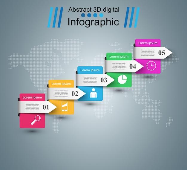 3d plansza projekt szablonu i marketingu ikony