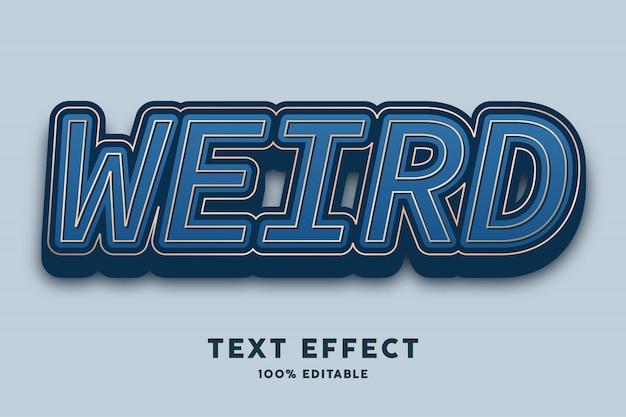 3d pogrubiony ciemnoniebieski luksusowy elegancki efekt tekstowy