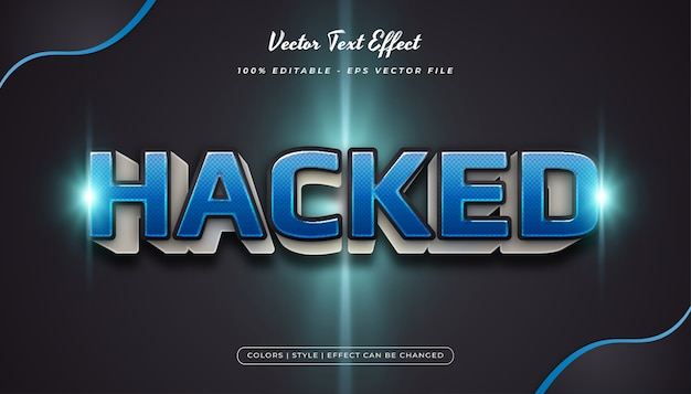 3d pogrubiony niebieski styl tekstu z teksturą półtonów i efektem wytłoczenia