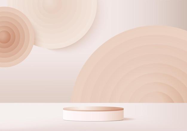 3d produkty w tle wyświetlają scenę podium z geometryczną platformą