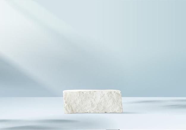 3d produkty w tle wyświetlają scenę podium z kamienną geometryczną platformą