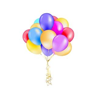 3d realistyczne kolorowe balony