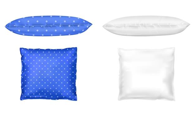 3d realistyczne poduszki. szablon, makiety