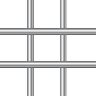 3d realistyczne stalowe pręty więzienne.
