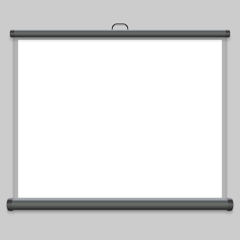 3d realistyczny ekran projekcyjny
