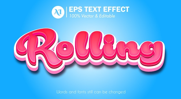 3d red pop up realistyczny efekt tekstowy