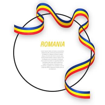 3d rumunia z flagą narodową.