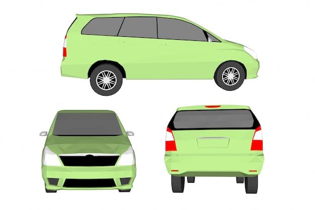 3d samochód wektor