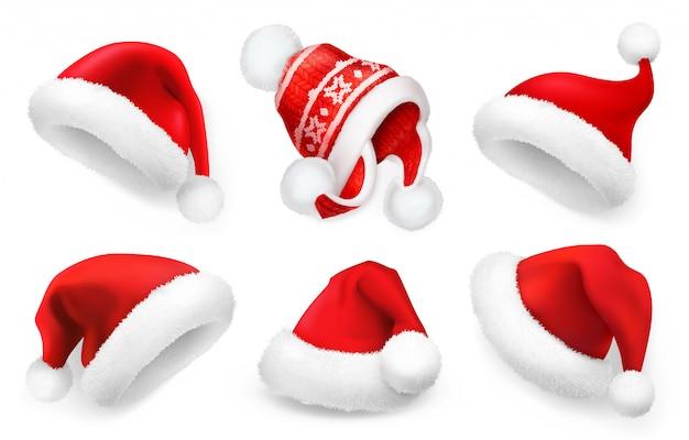 3d santa hat isolated