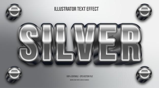 3d srebrny efekt tekstowy