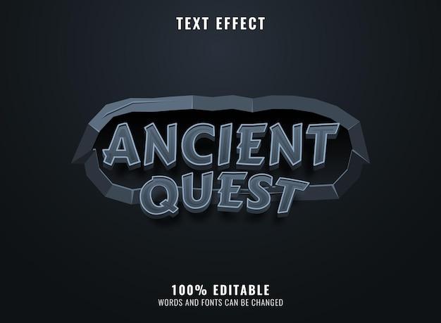 3d starożytna misja z efektem tekstowym tytułu gry z kamienną ramą